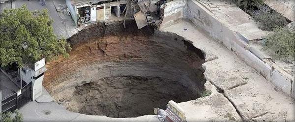 Sinkhole in Guatemala City | Greener Ideal