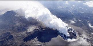 Japan shinmoedake volcano
