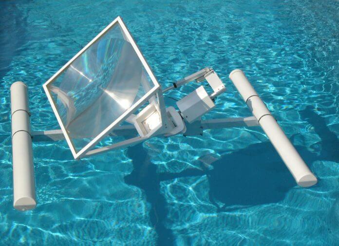 sun energy liquid floating solar array