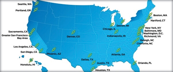Eco Friendly Cars in America: the Top 25 Cities Ready for Electric Cars
