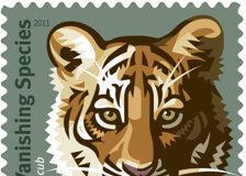 save vanishing species postage stamp