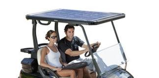 solar roof golf cart