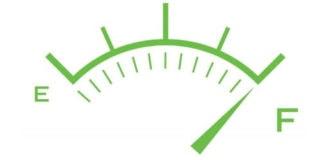 eco friendly car fuel gauge