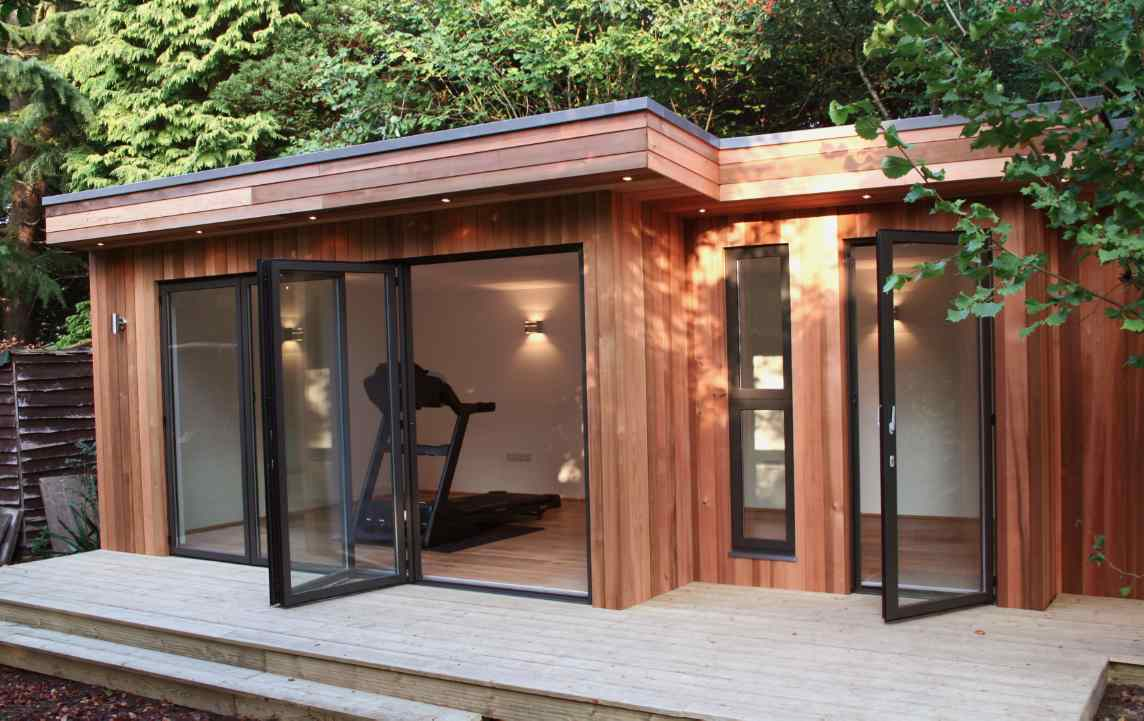 No need to extend with a shed conversion greener ideal for Garden office gym