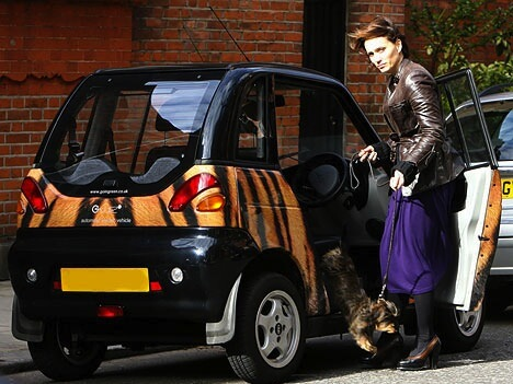 Kristin Scott Thomas G-Whiz Electric Car