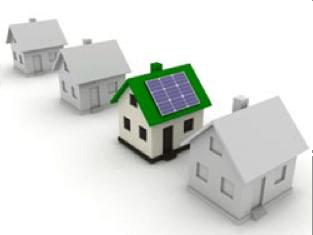 Solar panels on house