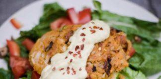 sweet potato and brown rice patties