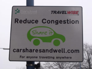 Car Sharing Sign