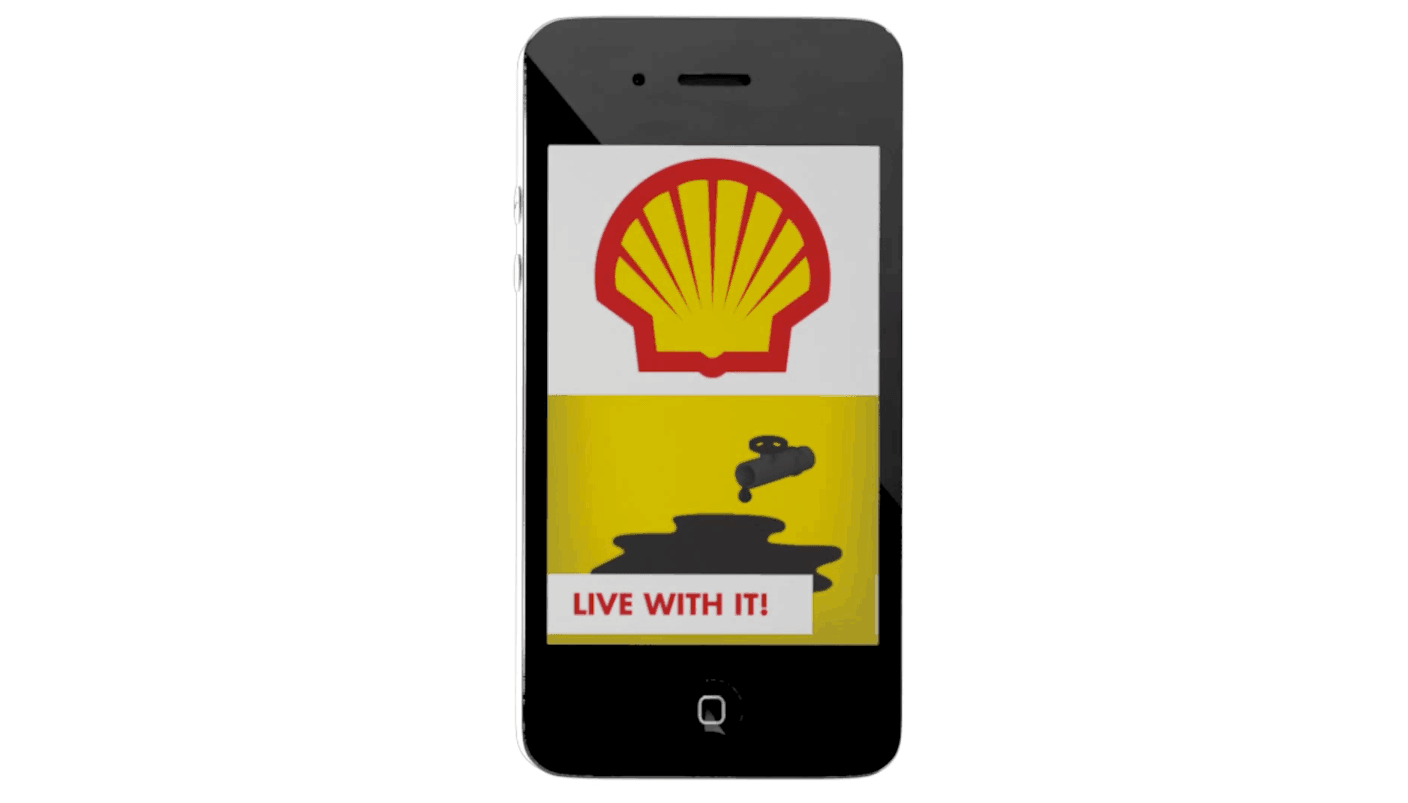 Phoney Shell app draws attention to environmental damage from oil