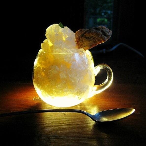 Fresh Homemade Ginger Ale Ice