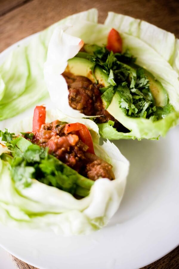Low Fat Lettuce Bison Wraps Recipe