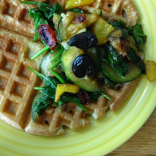 Savory Gluten Free Waffles Recipe - Greener Ideal