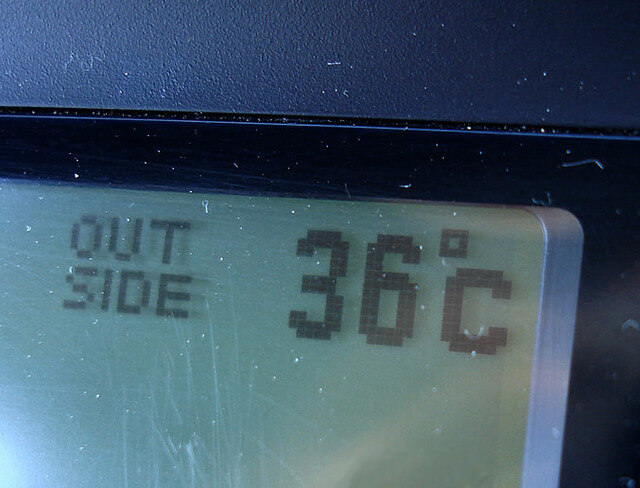 High Temperature on a Thermometer