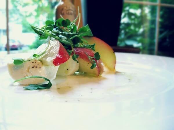 White Peach Salad