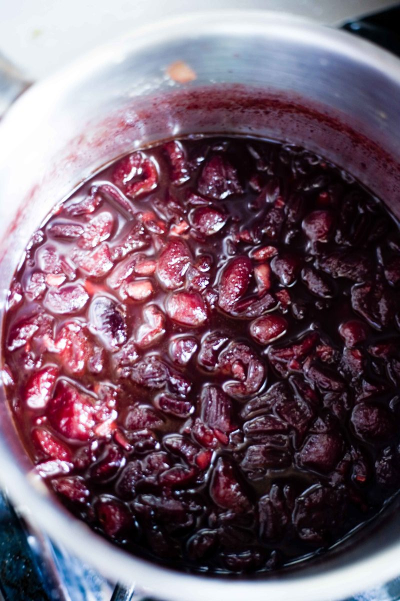 cherry chutney with red currants
