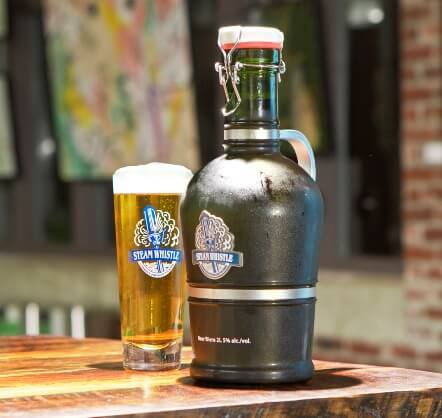 Steamwhistle Growler and Pint