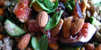 Minty Fig Lentil Salad