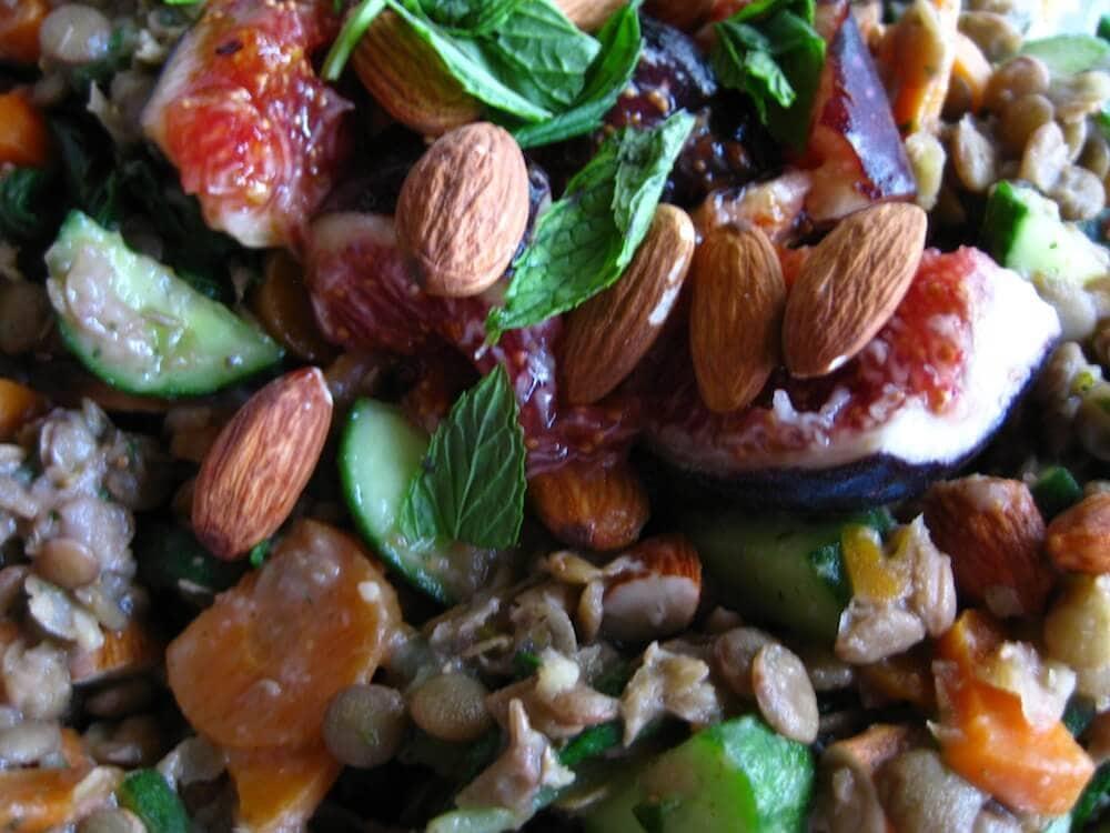 Minty Fig Lentil Salad Recipe