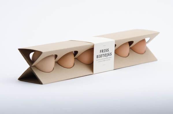 Redesigned egg carton