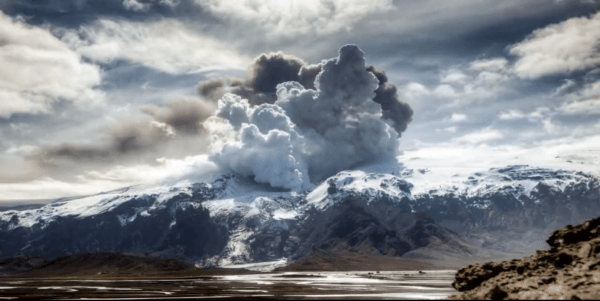 Time-lapse Volcano Video