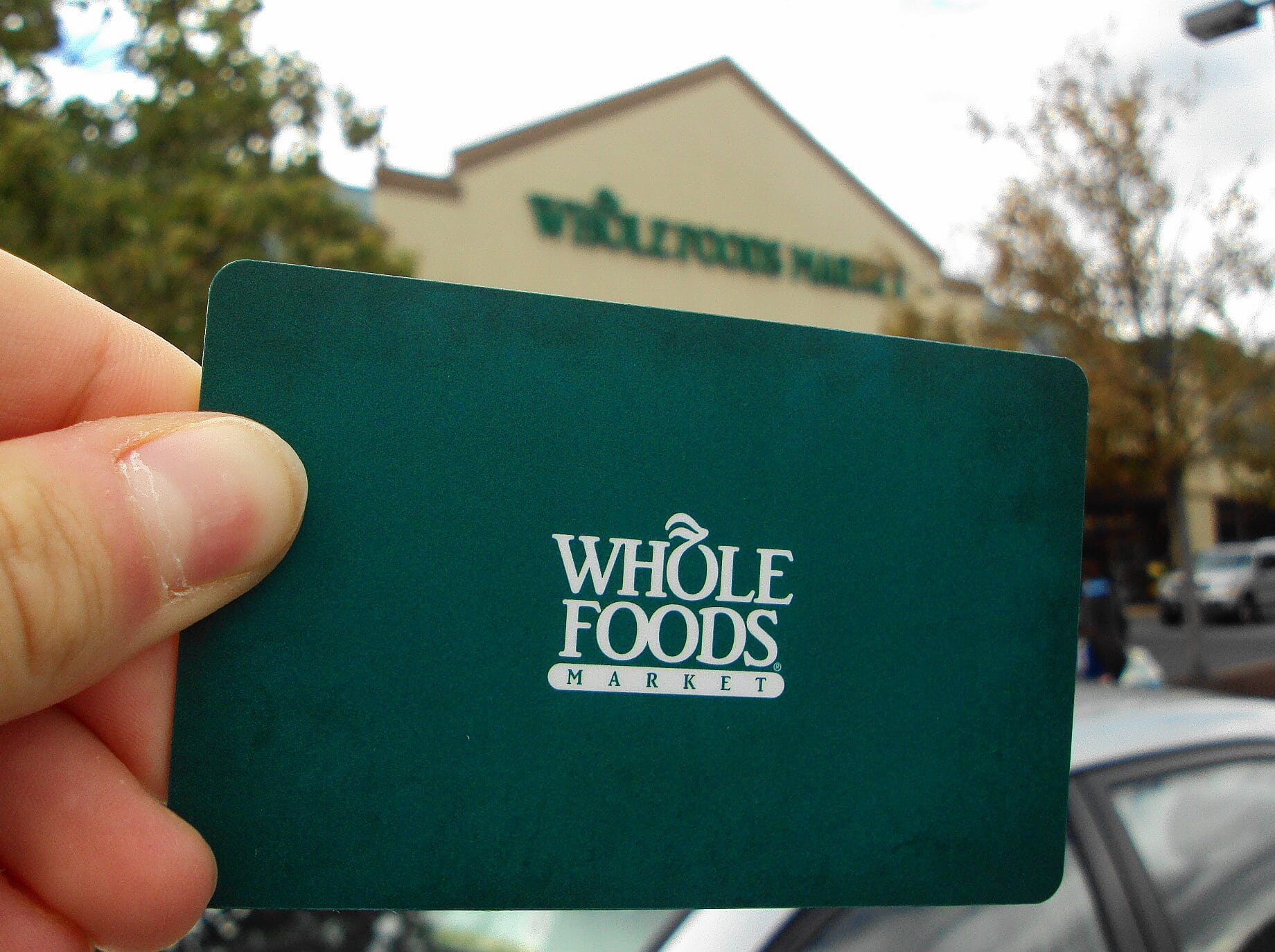 Whole Foods Markets makes their gift cards more eco-friendly