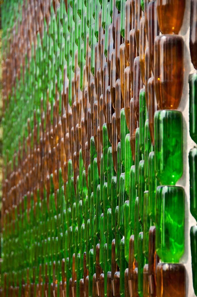 Beer bottle temple