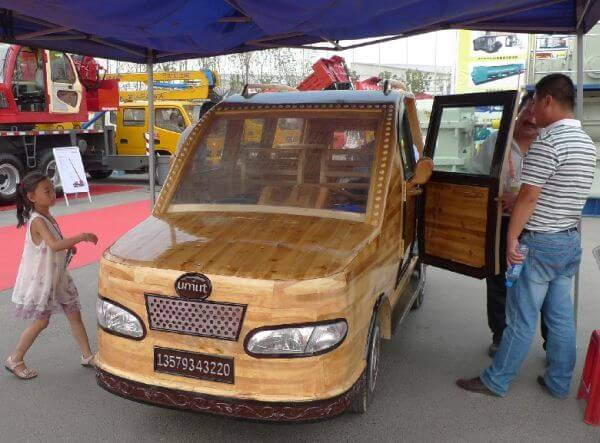 China Unveils The Umut, A Wooden Electric Car