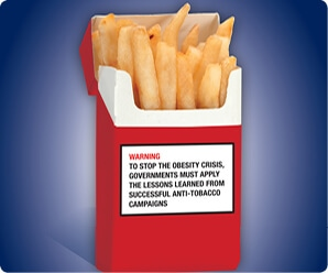 French Fries Junk Food Warning Label