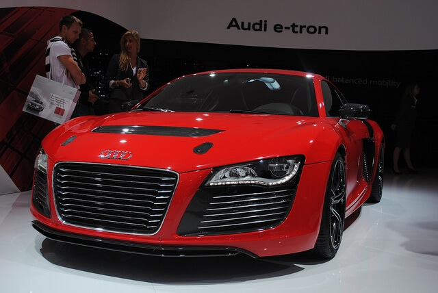 Audi R8 e-tron at the Frankfurt Motor Show IAA 2011