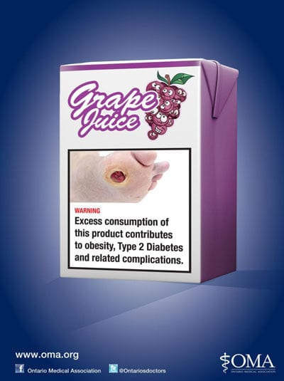 Grape Juice Obesity Warning