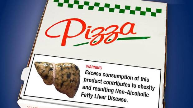 OMA Junk Food Label for Pizza