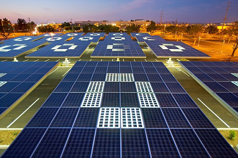 The new 30MW Solar Power Plant