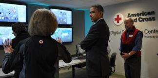 Barack Obama at Red Cross