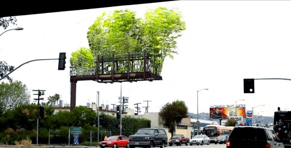 Billboard floating forest