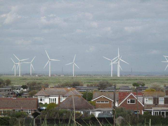 Wind turbines near homes