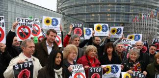 Stop fracking protest