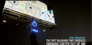 Clean water billboard