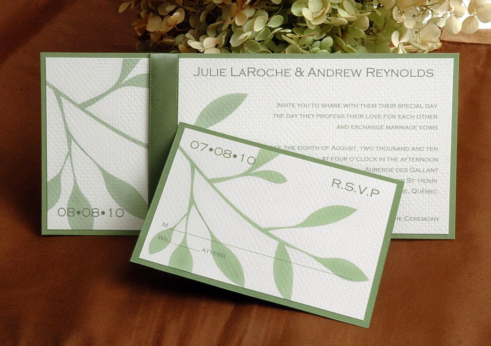 Environmentally Friendly Wedding Invitations