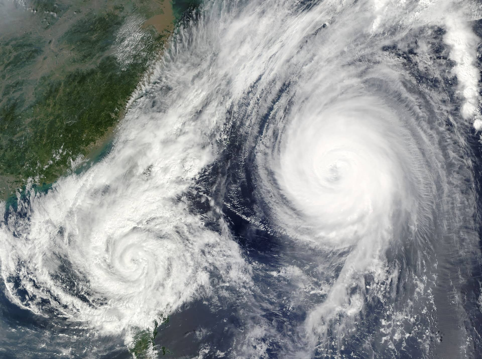 Hurricane viewed from above