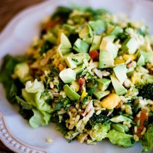 Curried Mango And Free Range Chicken Brown Rice Salad Recipe