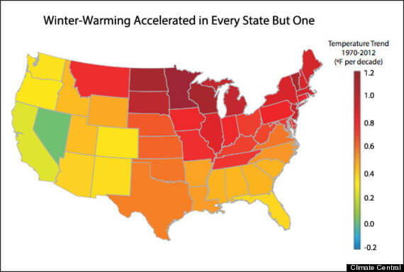 Report Shows: U.S. States Are Warming