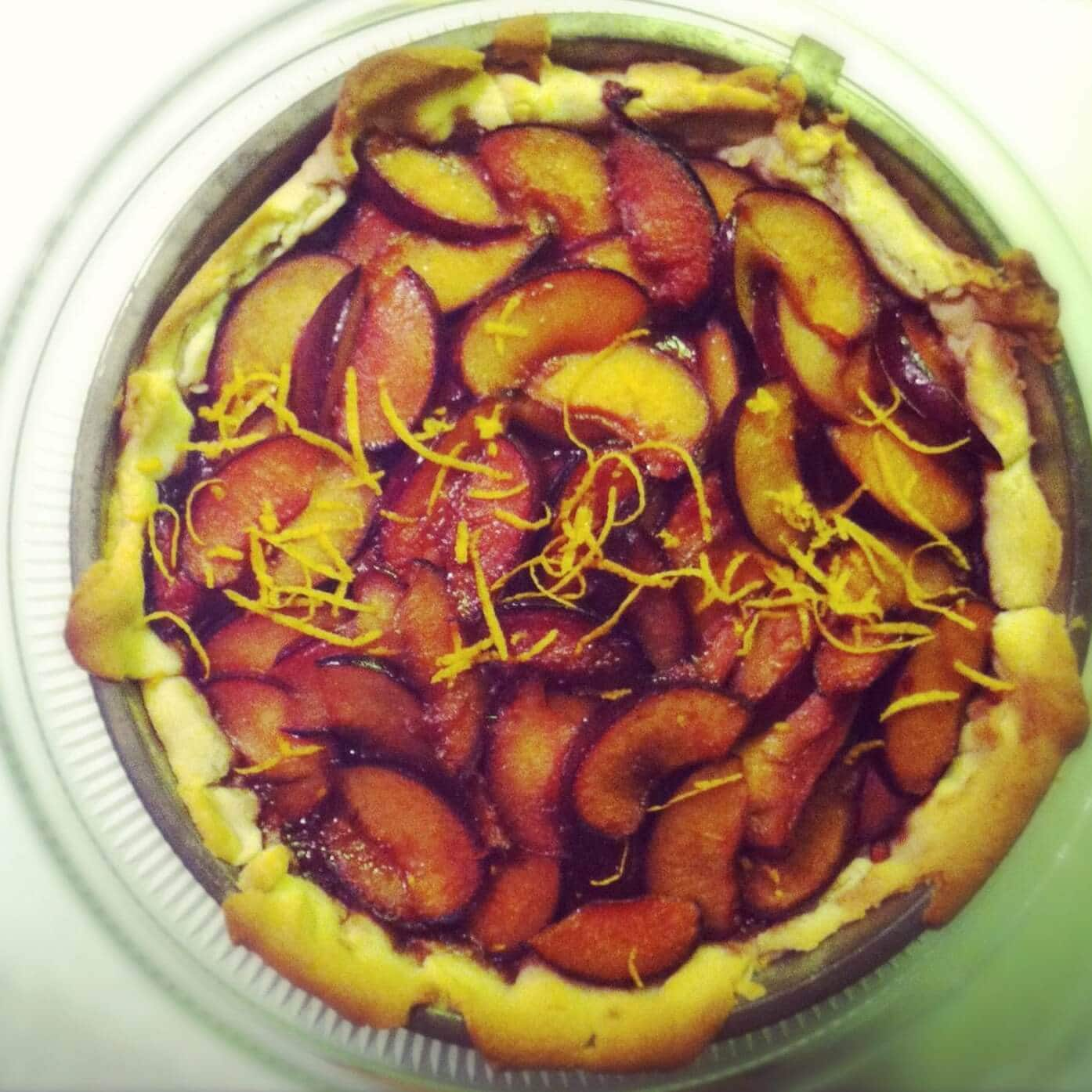 Plum Orange Crostata Recipe