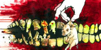Animal cruelty illustration