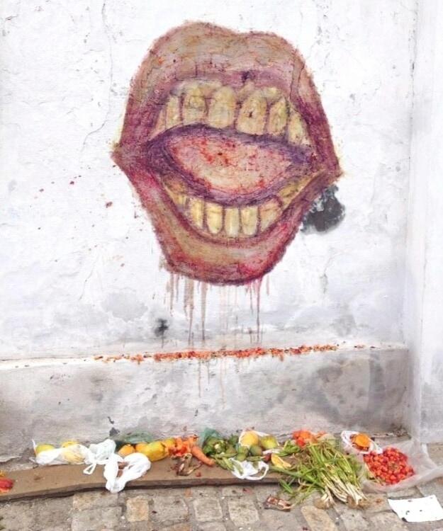 food waste artwork