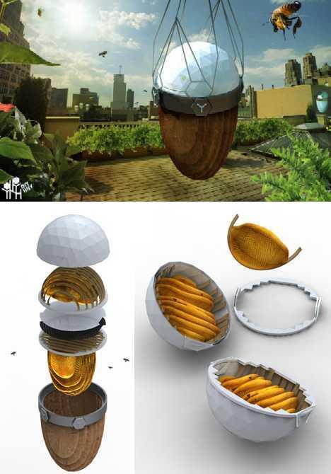 DIY honey urban beehive