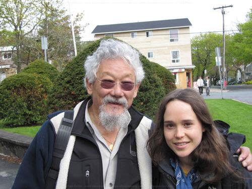 Ellen Page and David Suzuki