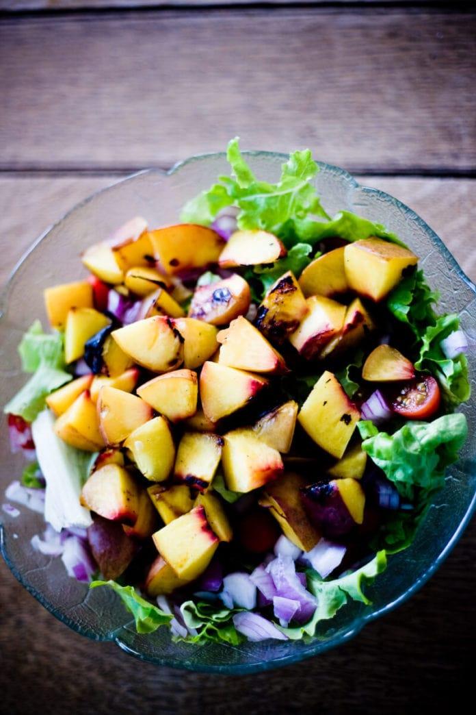 Simple Grilled Nectarine Salad