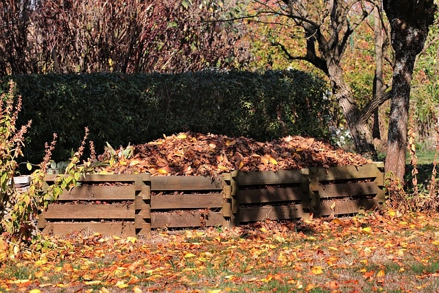 eco-friendly gardens - compost heap