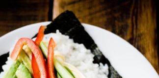vegetarian tofu sushi