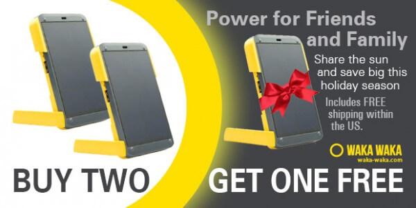 Buy 2 Get 1 FREE - WakaWaka Power solar smartphone charger